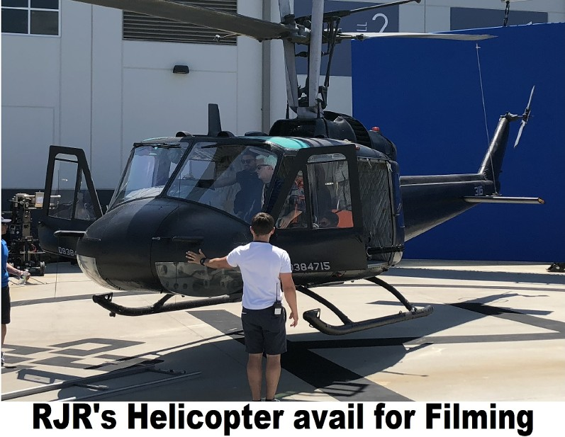 Black Helicopter for filming, Black Helicopter for rent, Huey Helicopter for rent