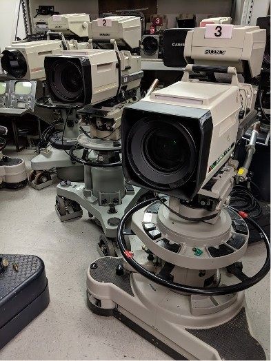 group of Sony BVP-270 Studio Cameras