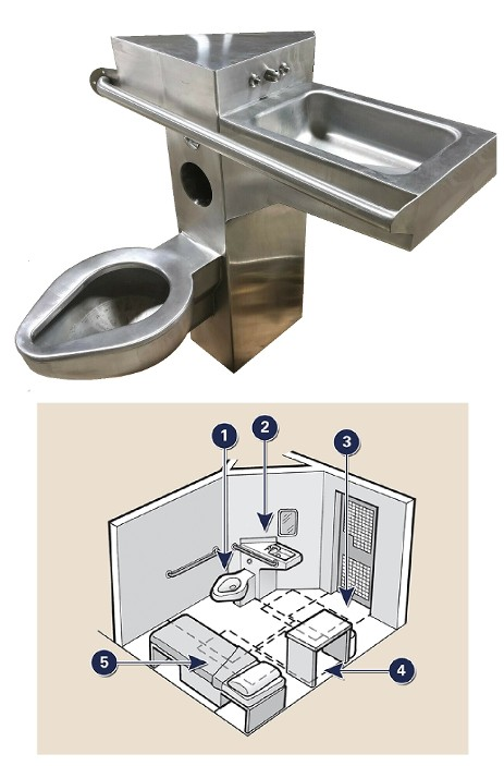 Jail Toilets, Jail Toilet props, jail toilets for rent, prop jail toilets