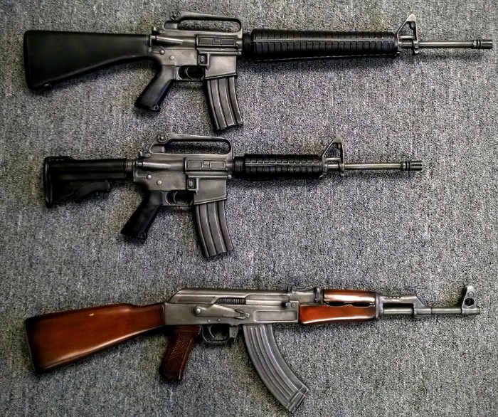 M16 Rifle Prop Gun, M4 Rifle Prop Gun, AK47 Assault Rifle Prop Gun, Prop Guns