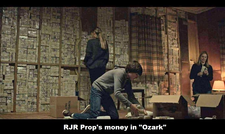 RJR Props - Ozark Money in wall