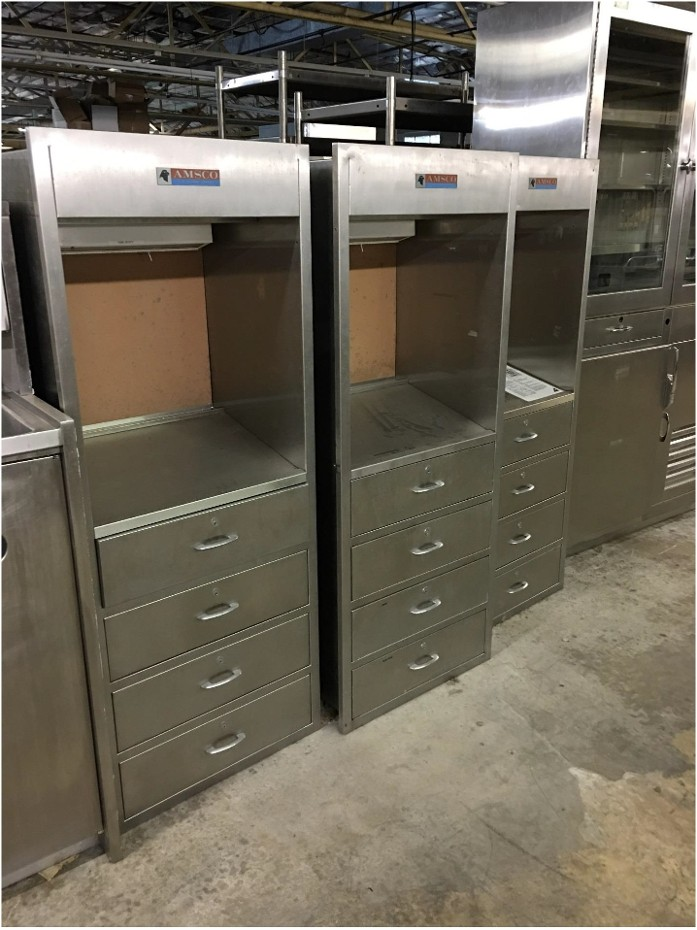 Stainless steel medical cabinet prop
