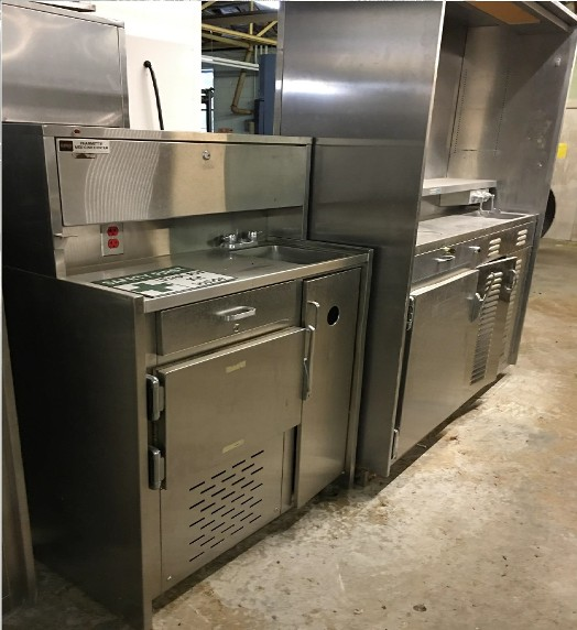 Stainless steel cabinet laboratory prop