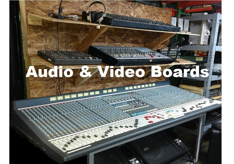 audio soundboards for rent, audio mixing board props