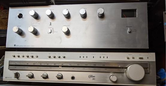 vintage stereo tuner prop