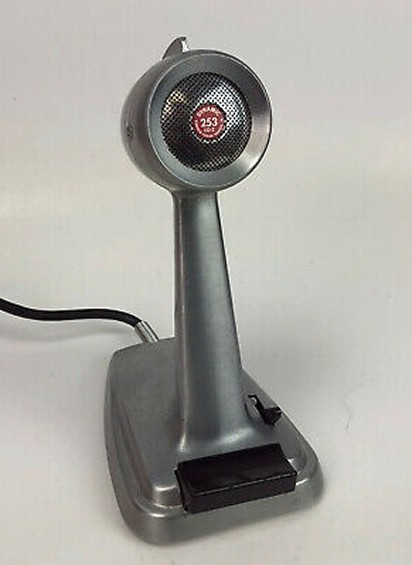 vintage desktop mic - turner 253 dispatch mic