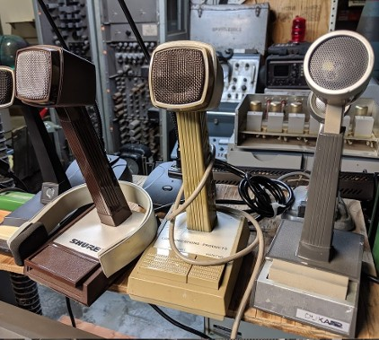 Vintage dispatch microphones