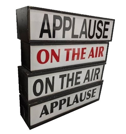 Applause signs, applause sign props