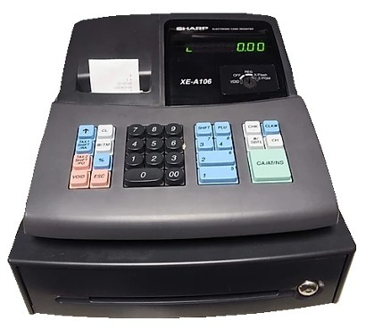 cash register prop - modern black
