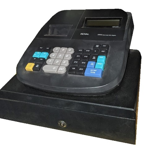 cash register - modern - black - royal 500dx