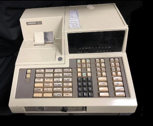 vintage cash register - 1980s - omron rs81