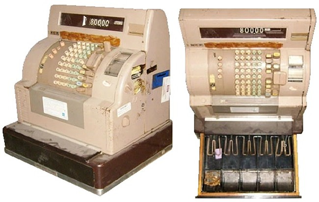 vintage cash register prop - ncr 38