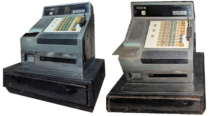 Vintage Cash Register Prop for rent, Vintage NCR Cash Register Prop