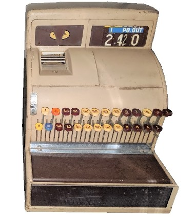 vintage cash register prop - national