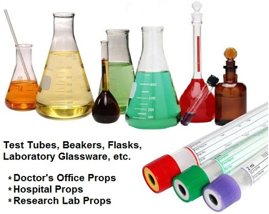 Laboratory Beakers props, Test tubes props